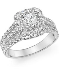 Bloomingdale's Diamond Princess Cut Engagement Ring In 14k White Gold - Multicolour