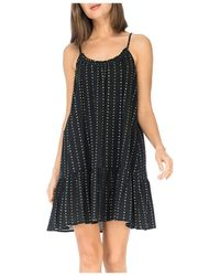 B Collection By Bobeau Floral Ruffled Trapeze Dress - Black