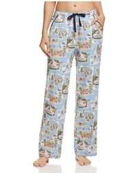 Jane & Bleecker New York - Printed Sateen Pajama Pants - Lyst