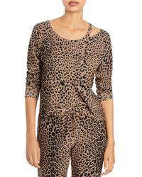 Chaser Leopard Print Pullover Sweatshirt - Natural