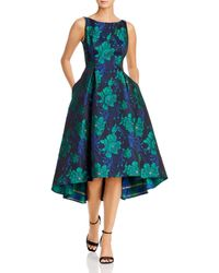 Adrianna Papell Charmed Floral Fit And Flare - Green