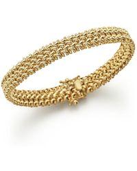 Bloomingdale's 14k Yellow Gold Crisscross Bracelet - Metallic