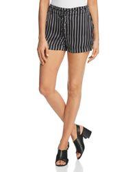 Kenneth Cole - Tie-waist Striped Shorts - Lyst