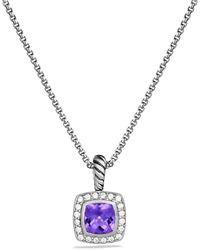 David Yurman - Petite Albion Pendant With Amethyst And Diamonds On Chain - Lyst