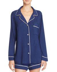 Eberjey - Gisele Long Sleeve Short Pajama Set - Lyst