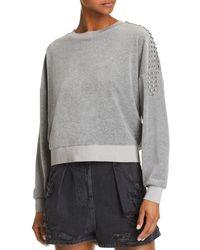 IRO - Heathen Studded Velour Sweatshirt - Lyst