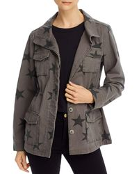 Aqua Star - Print Button - Front Utility Jacket - Green