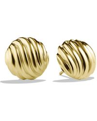 David Yurman - Sculpted Cable Earrings In Gold - Lyst