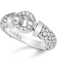 Lagos - Enso Diamond Ring In Sterling Silver - Lyst