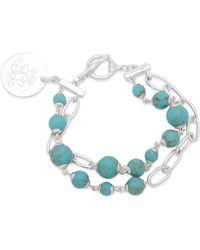 Ralph Lauren - Lauren Link And Stone Double Strand Pendant Bracelet - Lyst