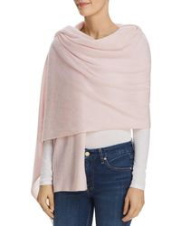 C By Bloomingdale's Cashmere Travel Wrap - Pink