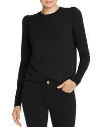 Aqua Cashmere Puff - Sleeve Cashmere Jumper - Black