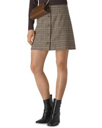 Whistles - Houndstooth Check Button Front Miniskirt - Lyst