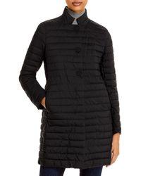 Herno Matte Nylon Quilted Coat - Black
