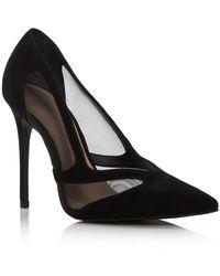Aqua Women's Cindi Mesh Court Shoes - Black