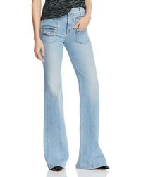 6e7b690d32e Ash Hudson Signature Bootcut Jeans in The Roxy Wash in Blue - Lyst