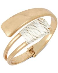 Robert Lee Morris - Two-tone Wire Wrap Bypass Cuff - Lyst