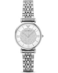Armani - Emporio Women's Two Hand Stainless Steel Watch - Lyst
