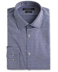 John Varvatos Soho Textured Jersey Slim Fit Dress Shirt - Blue