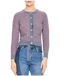 Sandro | Elleonore Cropped Cardigan | Lyst