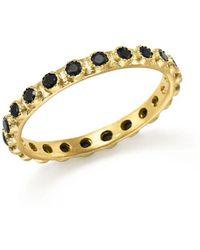 Armenta - 18k Yellow Gold Sueno Black Sapphire Stacking Ring - Lyst