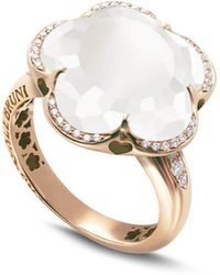 Pasquale Bruni - 18k Rose Gold Bon Ton Floral Milky Quartz & Diamond Ring - Lyst