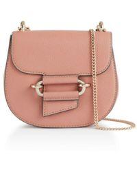 Reiss Maltby Mini Leather Crossbody - Pink