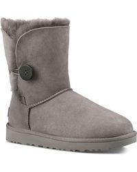 UGG Ugg Bailey Button Li Boots - Gray