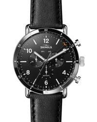 Shinola Men's 45mm Canfield Chronograph Watch - Black