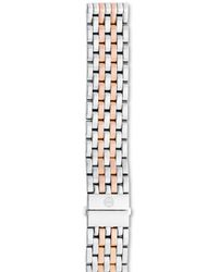 Michele Deco/deco Madison Two - Tone Stainless Steel & Rose Gold 7 - Link Watch Bracelet - Pink