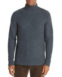 Bloomingdale's Funnel - Neck Fisherman - Rib Sweater - Gray