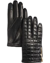 Kate Spade - Bow-quilted Leather Gloves - Lyst