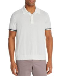 Bloomingdale's Cotton Tipped Classic Fit Polo Shirt - White