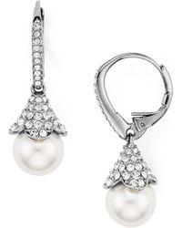 Nadri - Floral Drop Earrings - Lyst