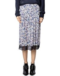Zadig & Voltaire - Jenny Printed Midi Skirt - Lyst