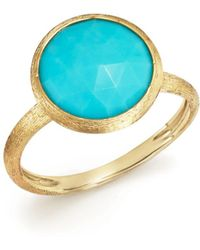 Marco Bicego - 18k Yellow Gold Jaipur Ring With Turquoise - Lyst