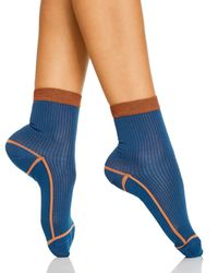 Happy Socks Hysteria Lily Ankle Socks - Blue