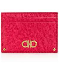 Ferragamo - Gancini Leather Card Case - Lyst