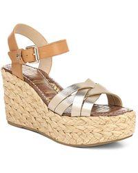 Sam Edelman - Women's Darline Espadrille Wedge Heel Platform Sandals - Lyst