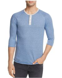 Alternative Apparel - Striped Three-quarter Sleeve Raglan Henley - Lyst
