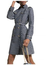 MICHAEL Michael Kors Logo Jacquard Double - Breasted Dress - Blue