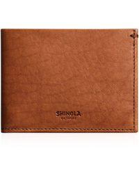 Shinola Slim Bi - Fold Wallet - Brown