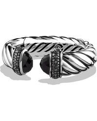 David Yurman - Waverly Bracelet With Black Onyx & Black Diamonds - Lyst