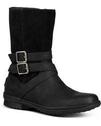 UGG - Women's Lorna Round Toe Leather Boots - Lyst