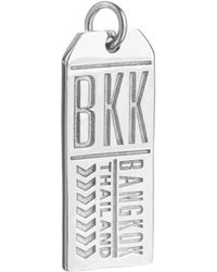 Jet Set Candy Bkk Bangkok Thailand Luggage Tag Charm - Metallic