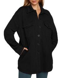 GOOD AMERICAN Fleece Shacket - Black