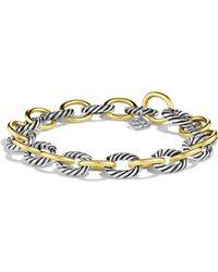 David Yurman | Oval Link Bracelet With Gold | Lyst