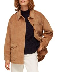 Whistles Corduroy Shirt Jacket - Brown