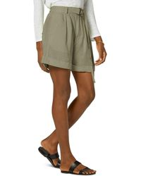 Joie Dixon Linen Shorts - Green
