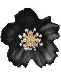 Alexis Bittar Asteria Burst Flower Pin - Black